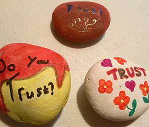 Youth Group Trust Prayer Pebble