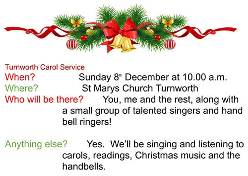 Turnworth Carol Service