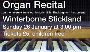 Organ Recital at Winterborne Stickland