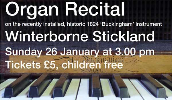 Organ Recital at Winterborne Stickland