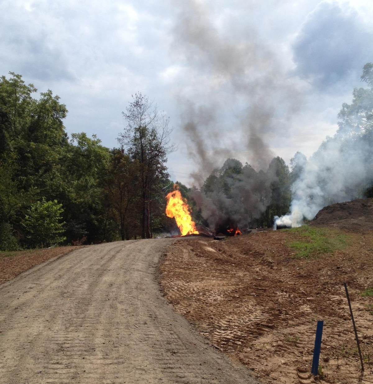 WV MetroNews Worker burned after gas line rupture at