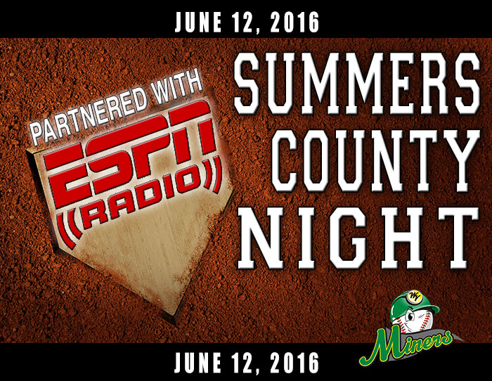 06/12: Summers County Night (ESPN Radio 102.3 FM)