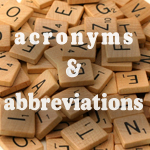 Acronyms & Abbreviations