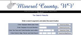 Mineral County Taxes online database