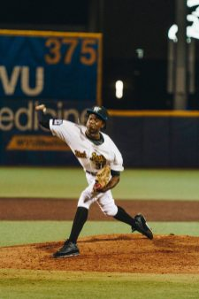 West Virginia pitcher Kobe Robinson. Logan Adams/WVSN