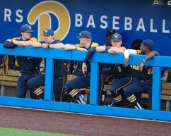 WVU Baseball Bench April 6, 2021 Photo by David Hague/WVSN