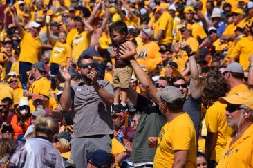 Fans cheer on the Mountaineers. (WVSN photo by Kelsie LeRose)