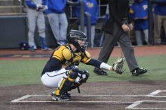 WVU catcher Matt McCormick against Pitt at Mon County Ballpark on May 5, 2021. Cody Nespor/WVSportsNow