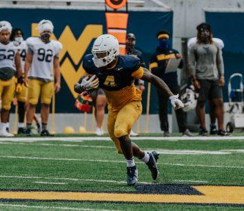 Running back Leddie Brown. WVU Athletics