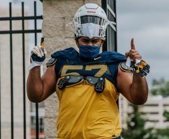 Offensive lineman Mike Brown. WVU Athletics