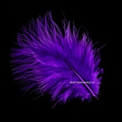 marabou-feathers-purple