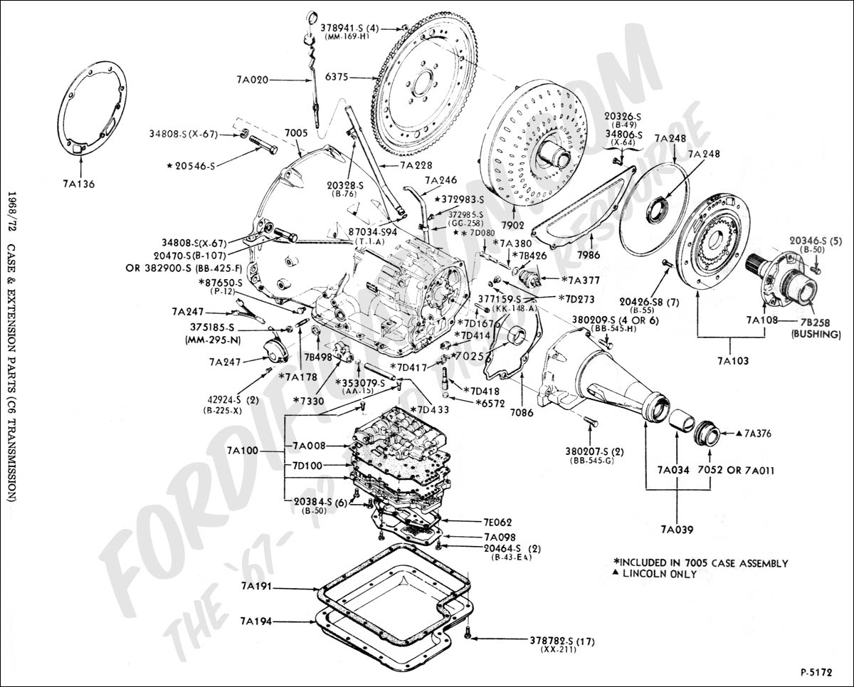 ford c4 transmission parts diagram