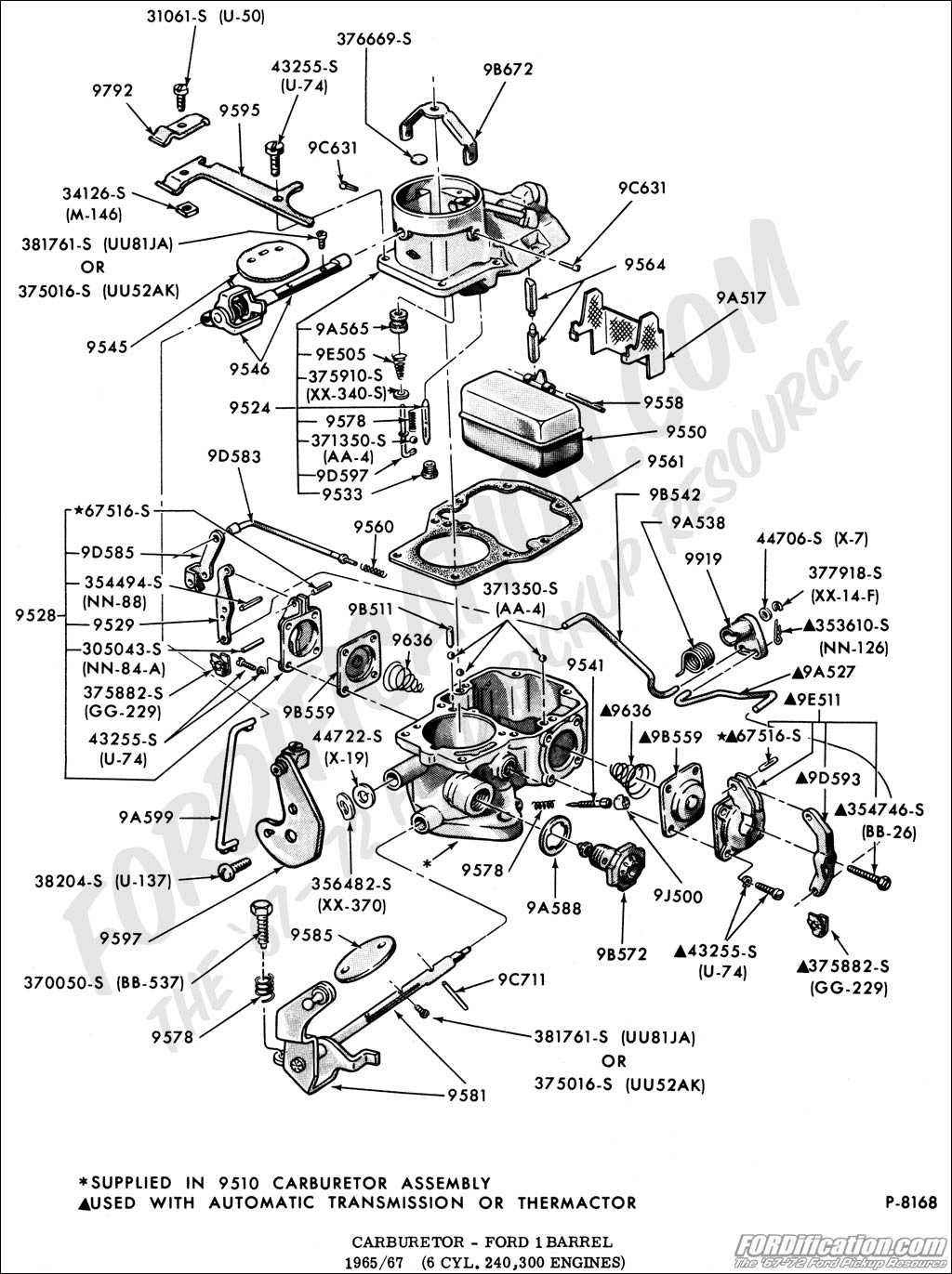 1972 Ford f100 carburetor diagram