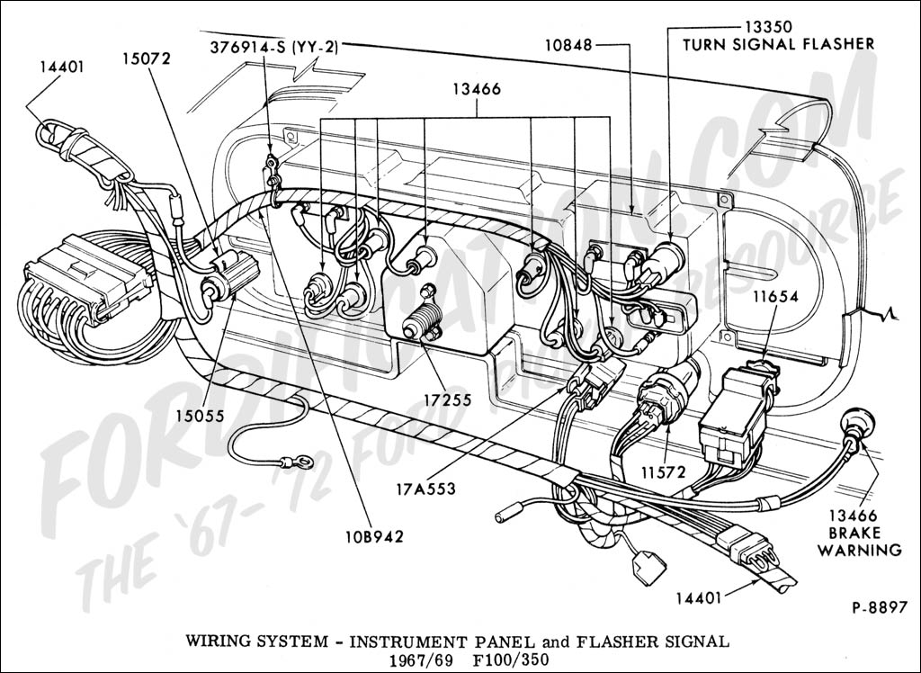 1968 Mustang Instrument Panel Diagram, 1968, Free Engine