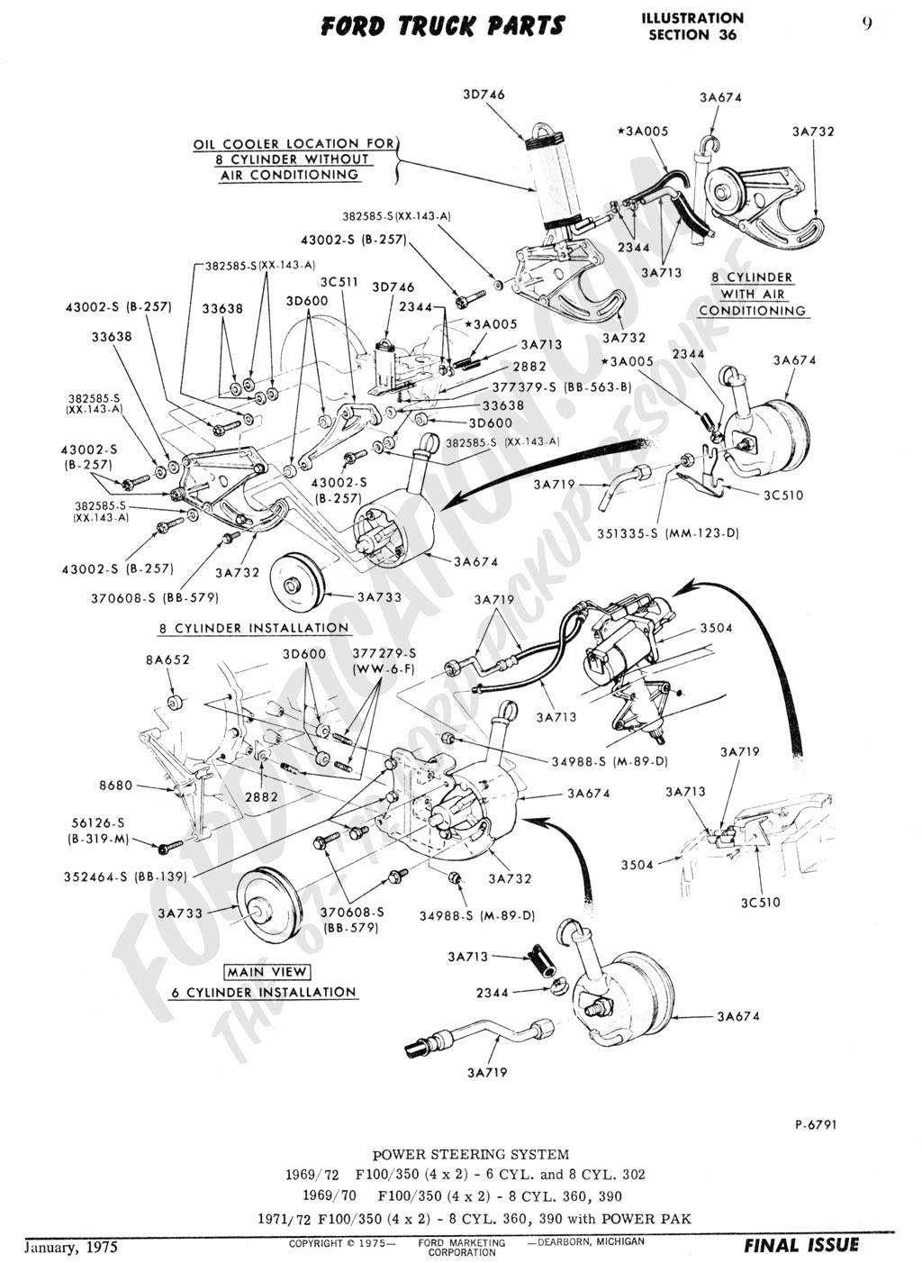Ford Bronco Steering Column Diagram