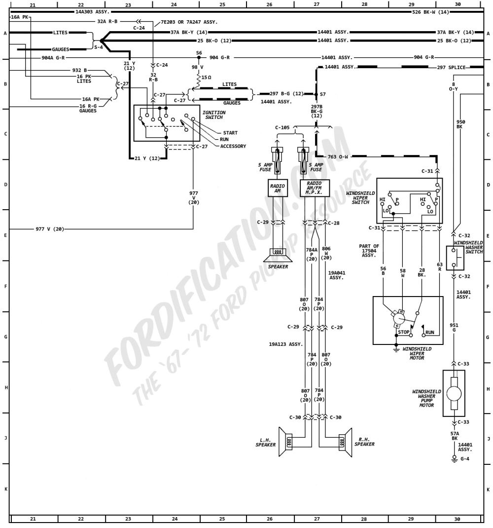 medium resolution of 1972 ford truck wiring diagrams fordification com 1972 ford f250 wiring diagram fusible link 1972 ford f250 wiring diagram