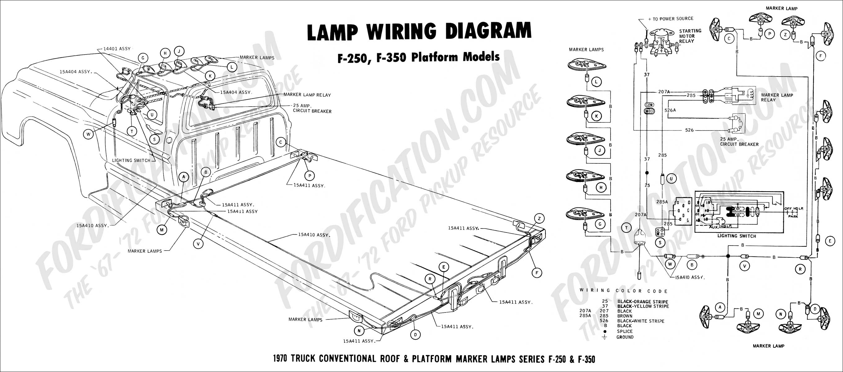 72 ford f100 wiring diagram 1997 f250 headlight switch truck technical drawings and schematics section h