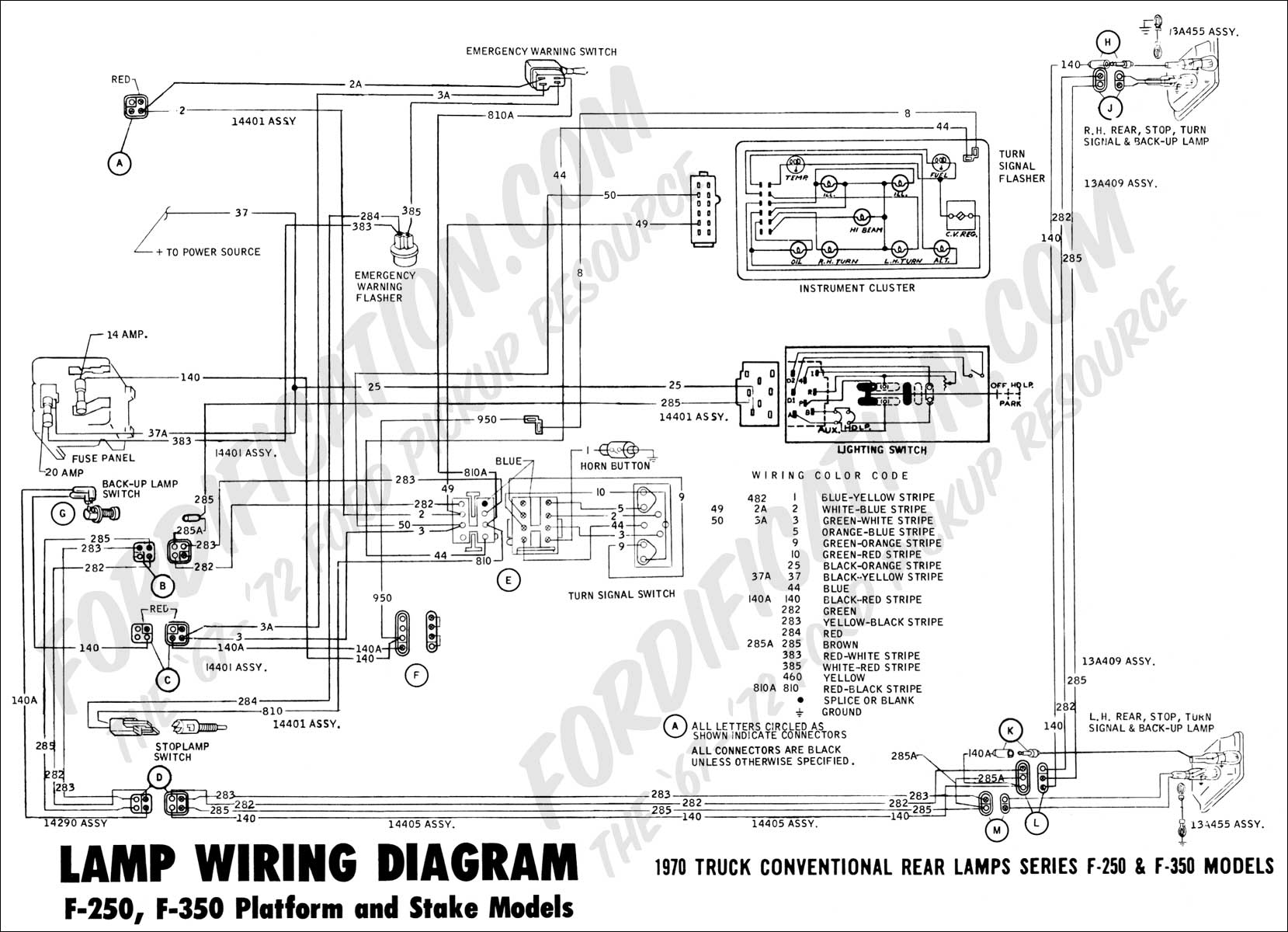 hight resolution of 1973 ford f 250 wiring diagram get free image about vintage headlight harness c3 corvette headlight