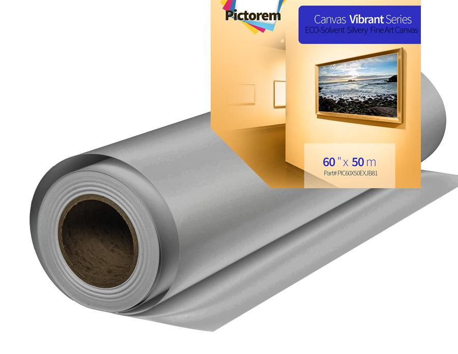 silver canvas roll 60
