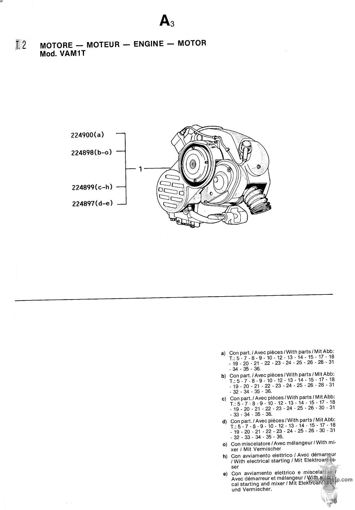 Vespa Automatica Parts Manual