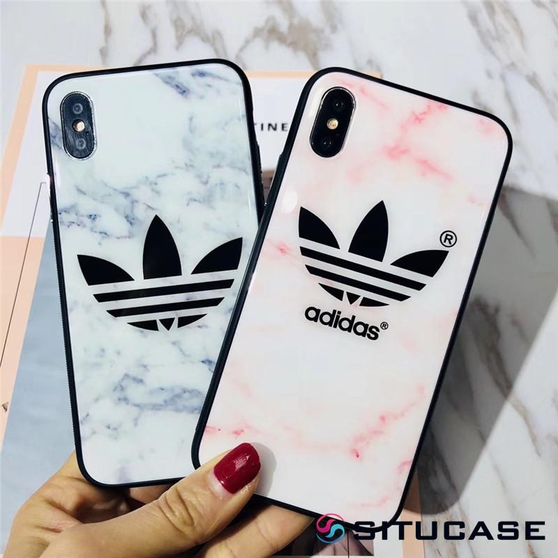 アディダス iPhonex ケース ペア Adidas iPhone8/xr スマホケース 可愛い スポーツブランド iPhone7/xs max お揃いケース カップル向け iPhone8plus/xsケース 女性 ピンク