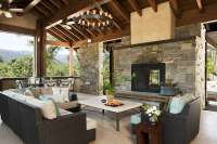 Indoor Outdoor Fireplace Double Sided - Home Decorating Ideas