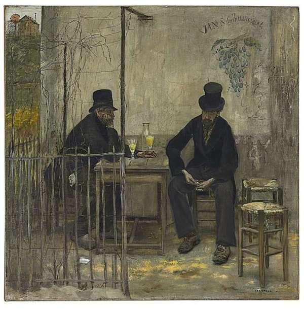 Absinthe Drinkers Painting