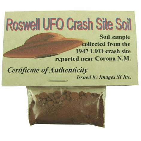 ROSWELL SOIL SAMPLE: Wow, do agents Scully and Mulder know about this? For only $12.95, the X-Files could be solved. (View on Amazon.) / SL