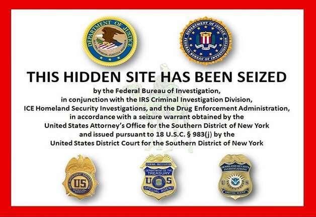 The F.B.I. siezed the Silk Road website. Photo: FBI
