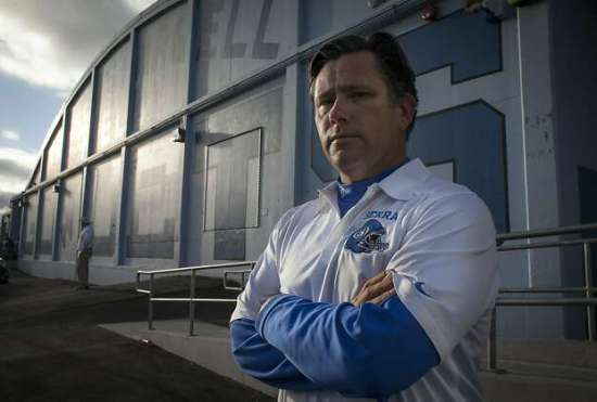Serra-San Mateo football coach Patrick Walsh wishes more of his players would play another sport. Photo: Sam Wolson, Special To The Chronicle