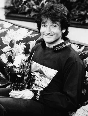 """This 1978 file photo originally released by ABC shows actor Robin Williams on the set of ABCs """"Mork and Mindy."""" Williams, whose free-form comedy and adept impressions dazzled audiences for decades, has died in an apparent suicide. He was 63. Photo: Associated Press"""