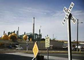 The Valero refinery in Benicia wants to build a rail terminal where crude oil could be delivered by trains.