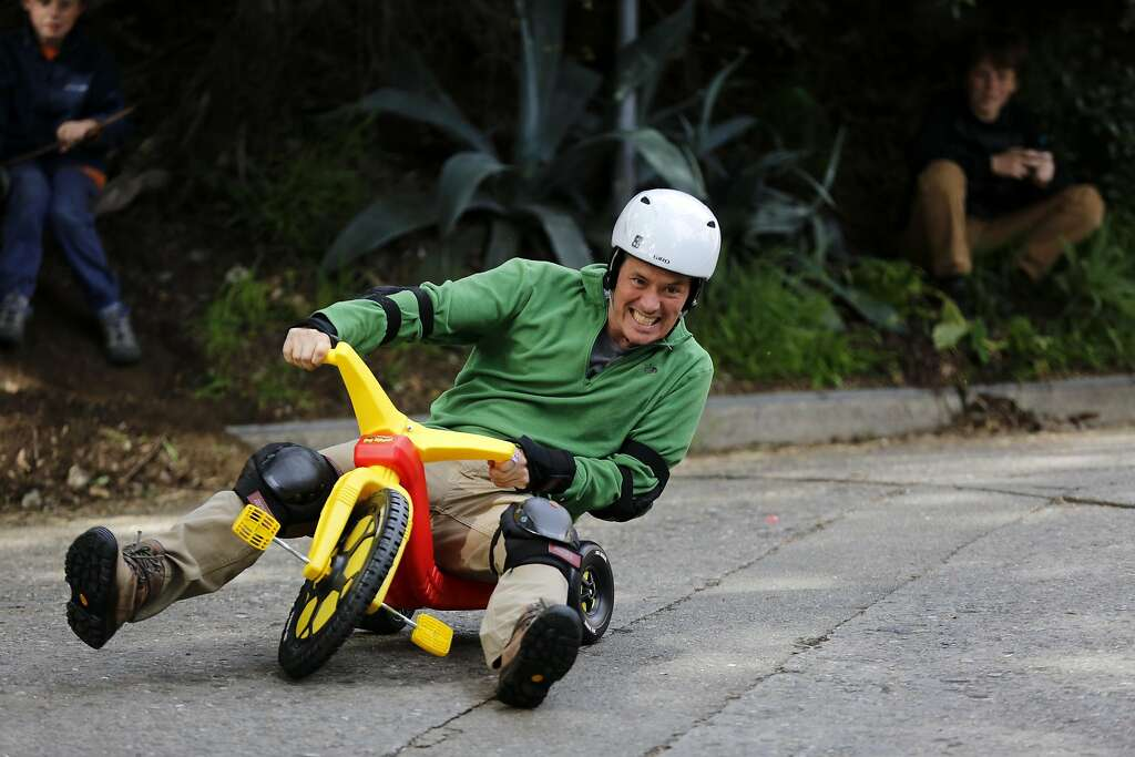 Image result for man on a big wheel