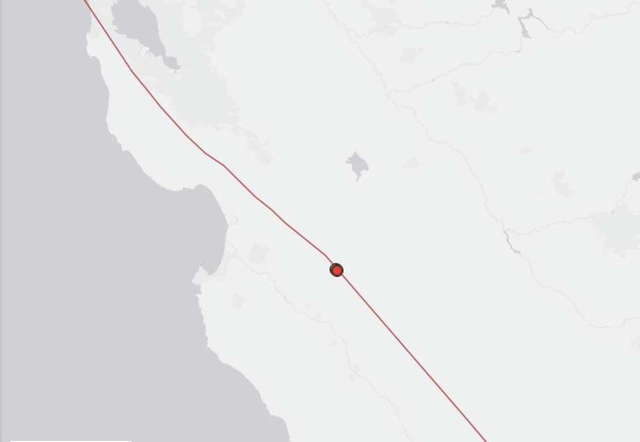 The first quake hit near Soledad, Calif., at 5:17 p.m. with a magnitude of 2.9 and a depth of 5 kilometers. About two hours later, a second quake, with a 3.2 magnitude and a depth of 5 kilometers, shook Soledad once more. At 8:09 p.m., a 3.8 quake of the same depth followed. Photo: USGS