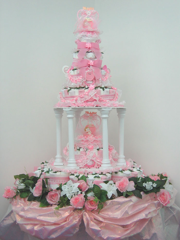 Introducing the Worlds First Diaper Cake that Resembles Wedding Cakes