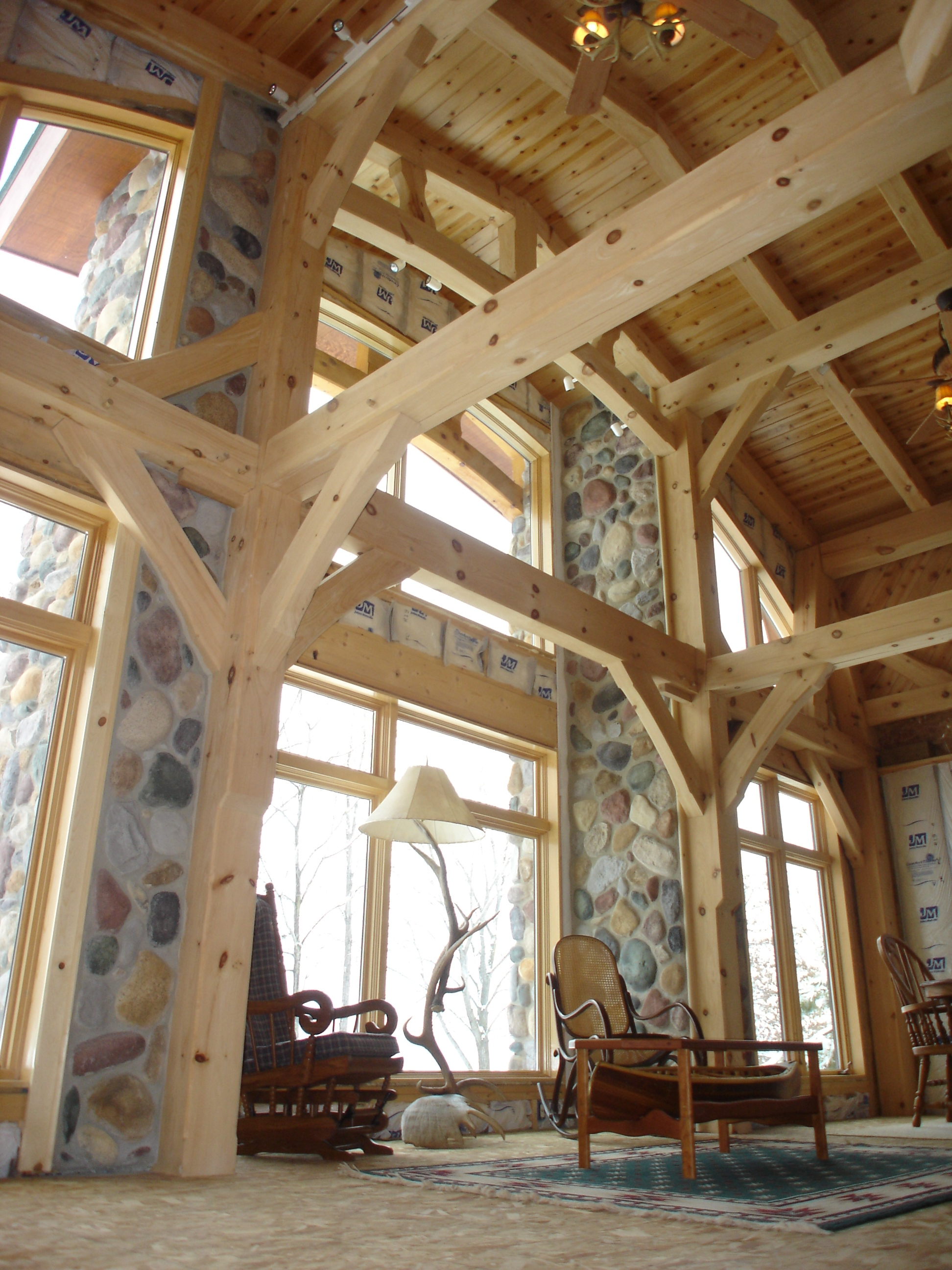 North Woods Timber Frames Builder of Handcrafted Timber Frame Homes In Wisconsin Opens Beautiful