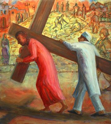 Churchs AntiWar Paintings Draw Fire