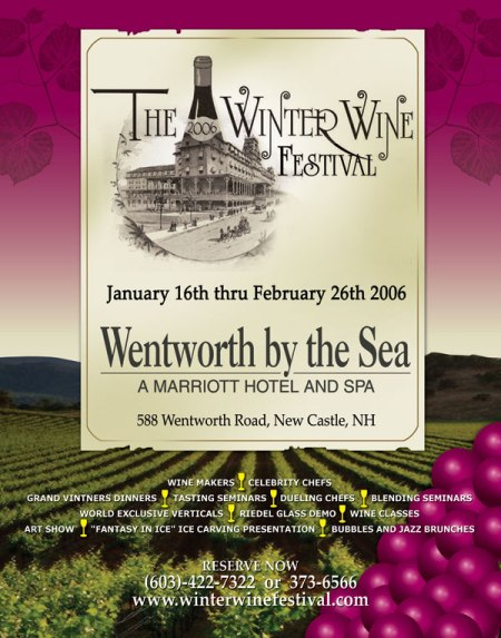 SixWeek Long Winter Wine Festival at the Wentworth by the