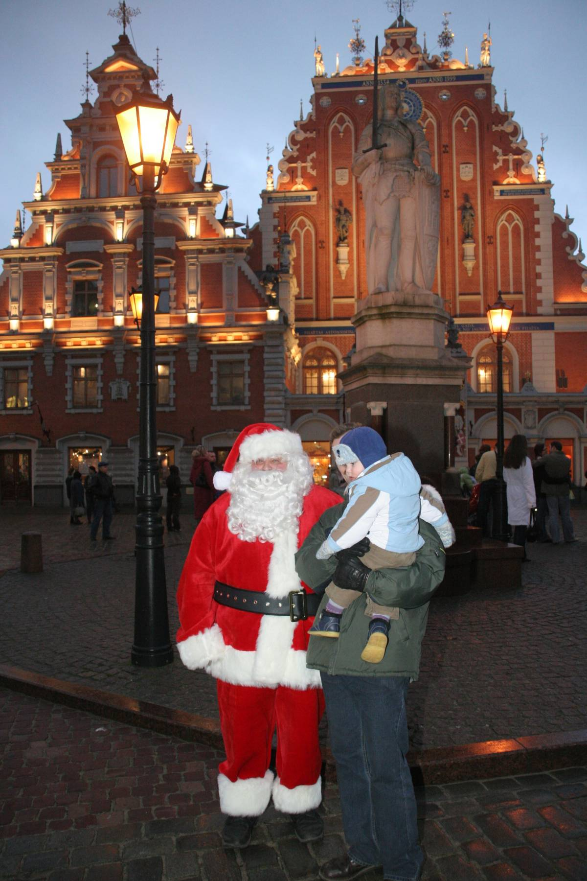 Santa Claus Visits Home of the First Christmas Tree  Riga