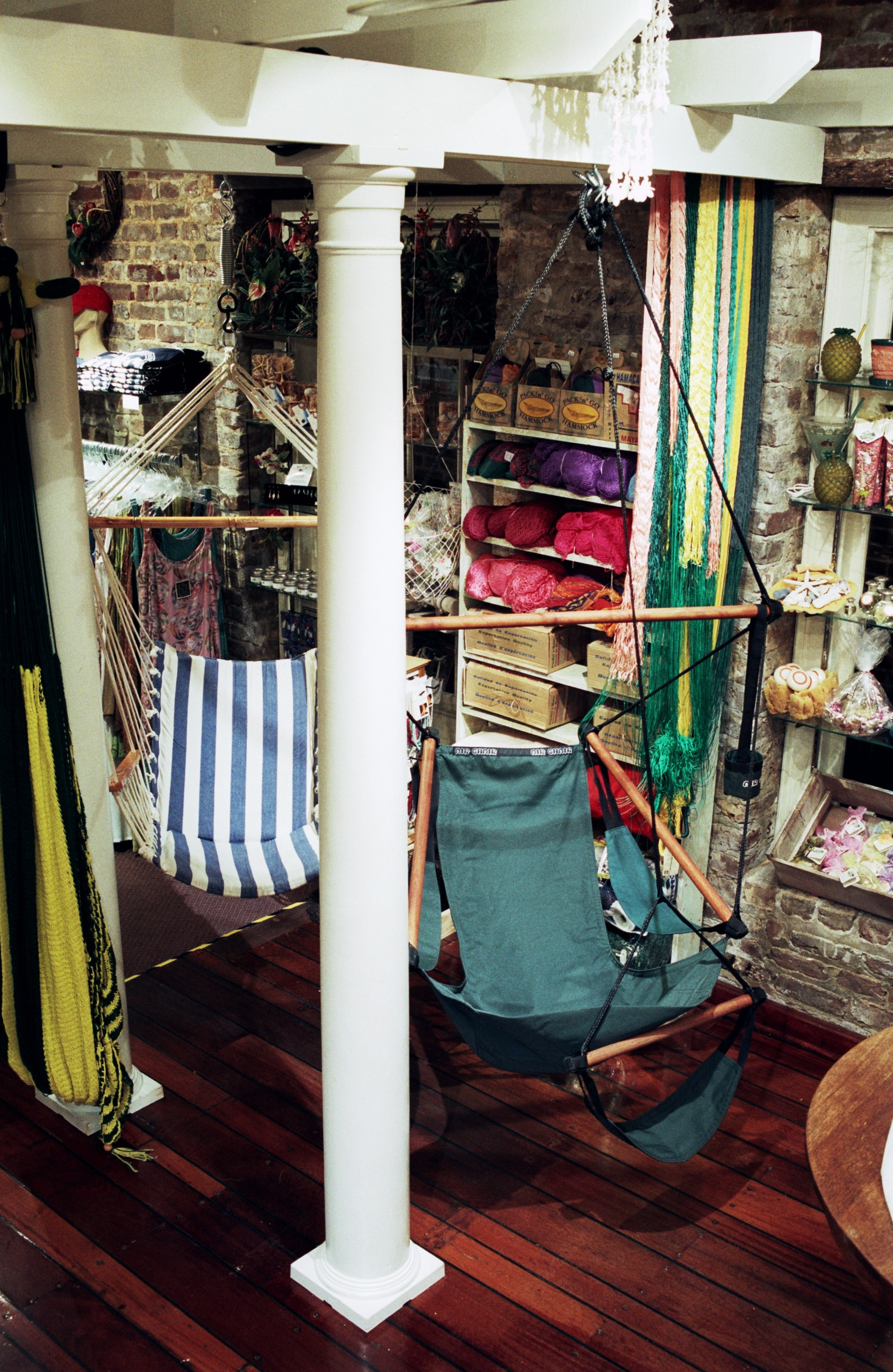 old blue chair wheelchair ramp code palmetto hammock & resort shoppe captivates customers with hanging furniture from outback ...