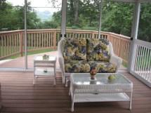 White Wicker Sunroom Furniture