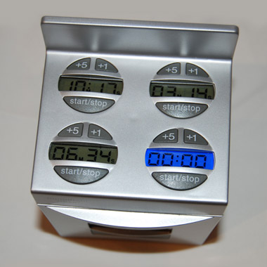 kitchen timer for hearing impaired shaker style unique oven shaped doneright with five timers in one black top of silver all colors