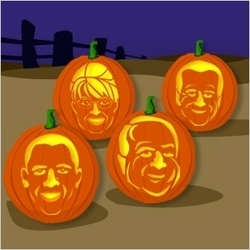Holds Straw Poll For Halloween Pumpkin Carving Stencils Of Barack Obama Joe Biden John