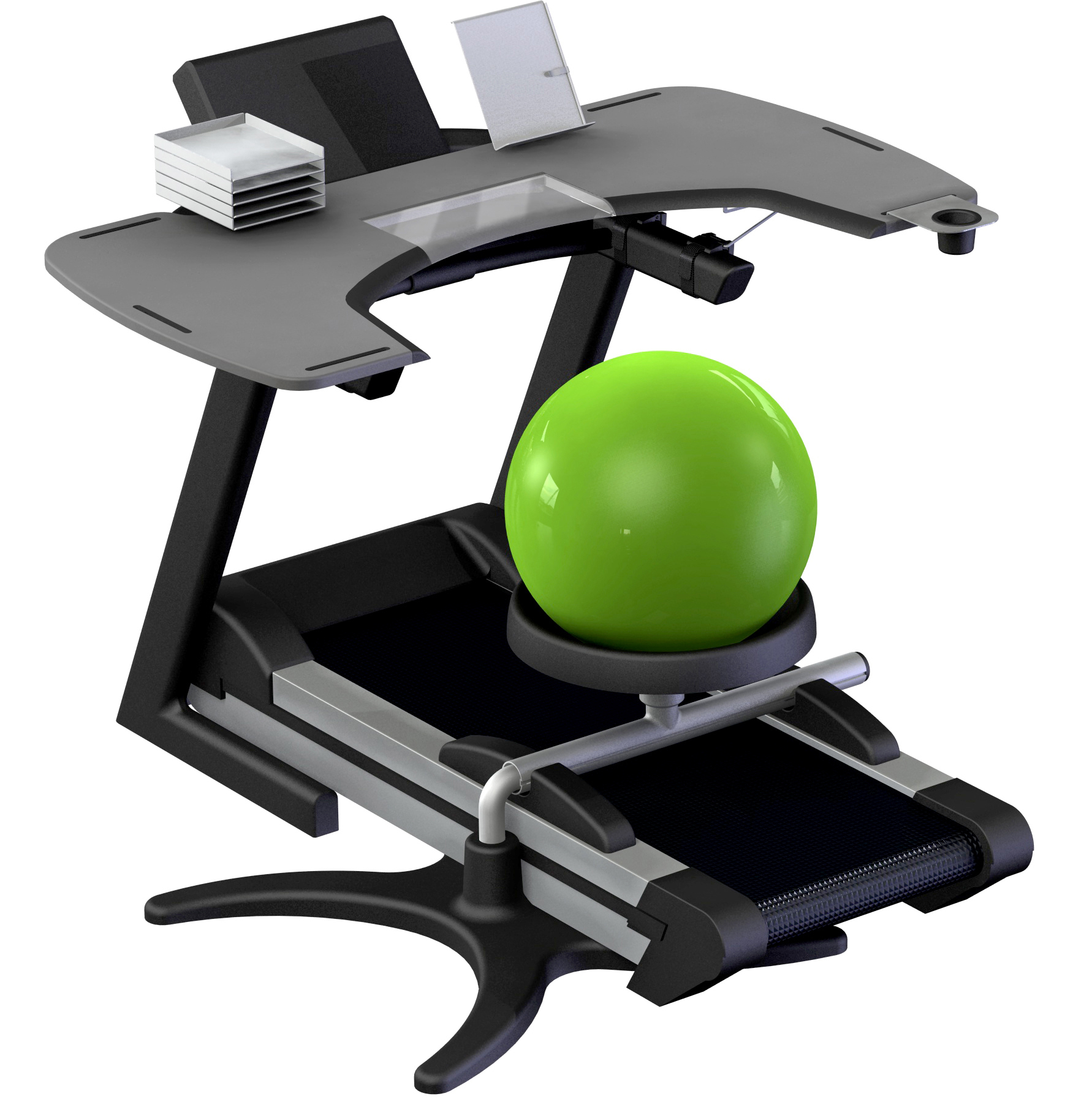 yoga ball chair exercises loveseat and covers trekdesk gears up to alleviate stresses of today 39s