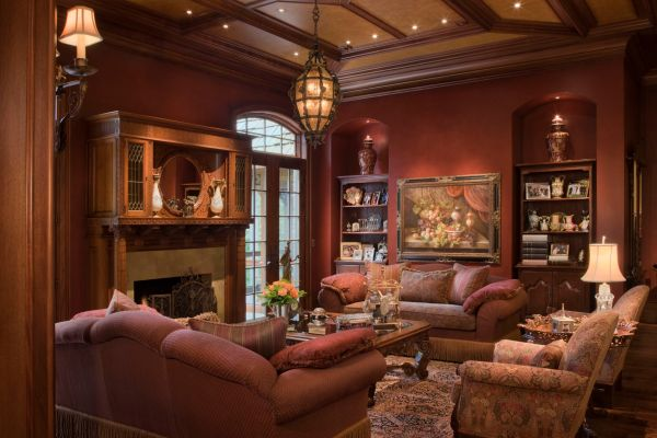 traditional living room interior design Work of West Bloomfield Luxury Home Builder Wins 8 Design Awards