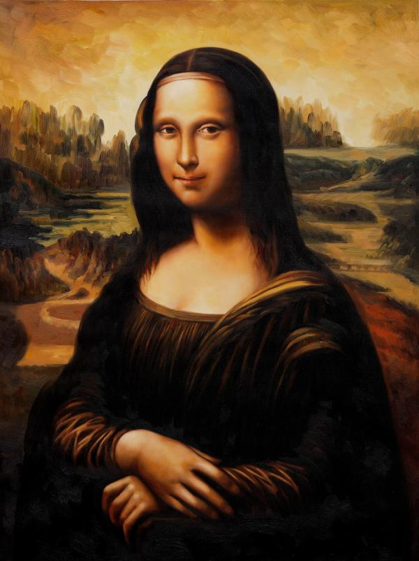 Mona Lisa Smiling Talked Oil Painting Of