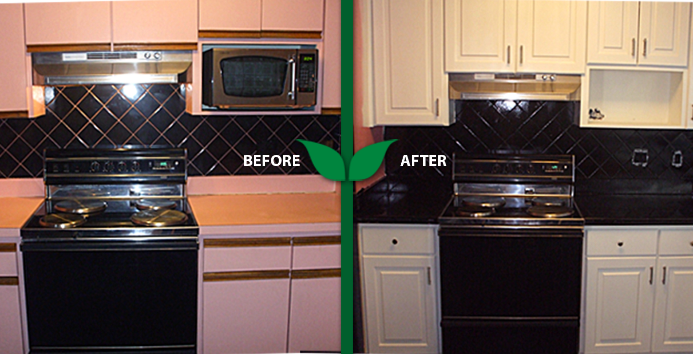 kitchen cabinets refinishing soap dispenser parts first certified green company in tampa area ...
