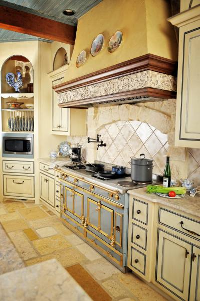 french country kitchen Interior Designer Adapts 18th Century French Wine Shop