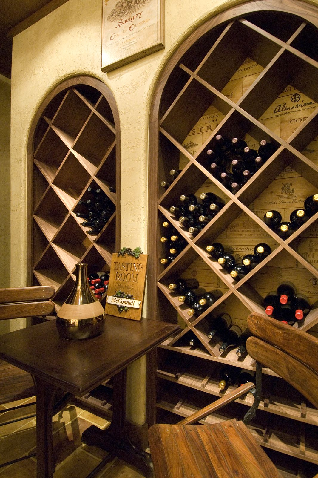 Interior Designer Adapts 18th Century French Wine Shop Design to 15000sq ft Luxury Home