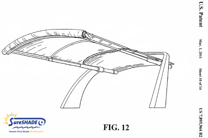 SureShade Secures Patent on Arched Roller Boat Canvas Design